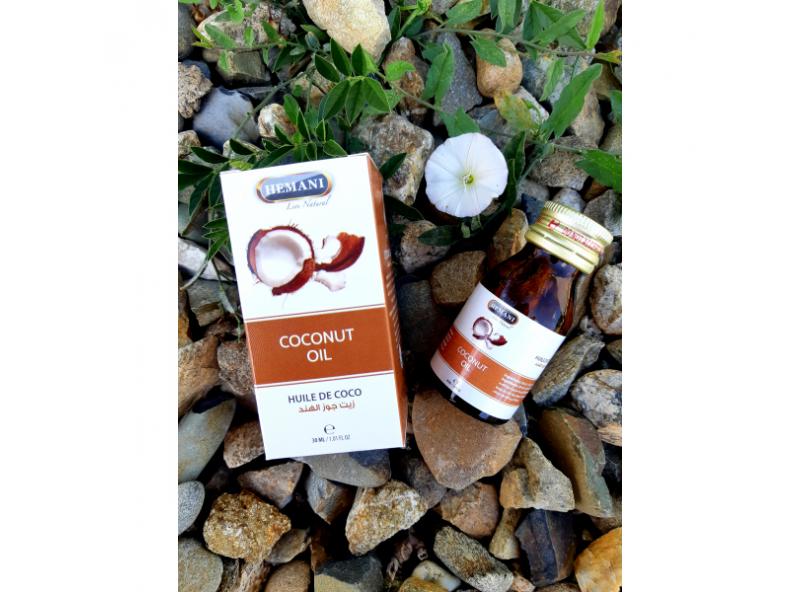 Масло кокоса / кокосовое масло Hemani , 30ml , стекло, 100% натуральное
