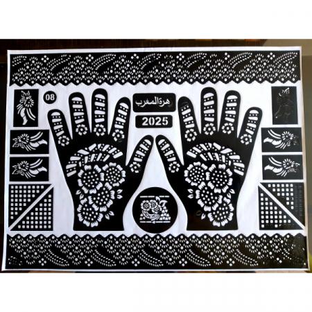 Трафарет для рисования на теле / мехенди,  большой размер, многоразовый