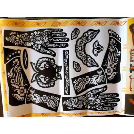 Трафарет для мехенди / для рисования на теле